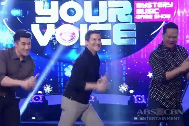 Edu, ipinakita ang kanyang signature moves kasama sina Luis at Bayani sa I Can See Your Voice!